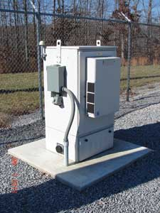 A Dickson Electric System base station substation