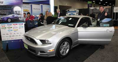 Steve Catanach of City of Fort Collins Utilities wins a 2013 Ford Mustang.