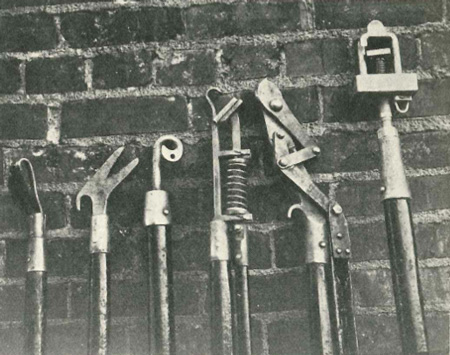 A selection of line worker tools from 1930