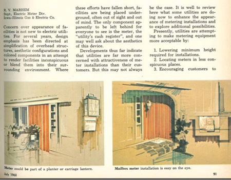Electric metering with 'Mad Men' style