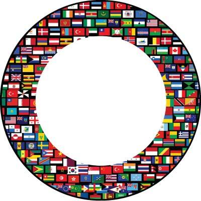 flag circle
