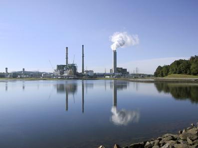 Duke Energy coal-fired plant in Asheville, N.C.