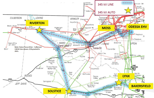AEP Texas map of Project