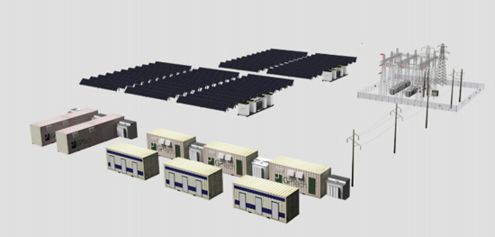 FIGURE 7: Schematic of 10 MW PV plant in Puerto Rico