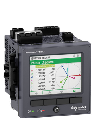 Power Monitoring Solution Schneider Electric announced enhancements to the PowerLogic PM8000 series meter. New features include low voltage control power capabilities as well as enhanced cybersecurity and web pages. The PowerLogic PM8000 series delivers superior revenue accuracy, and power quality compliance and analysis ideal for industrial and critical power facilities.The PowerLogic PM8000 series meters simplify power quality compliance monitoring and analysis to rapidly pinpoint and address critical power issues. The meters' extensive power quality analysis capabilities include EN 50160 compliance, sag/swell detection, waveform capture, disturbance direction detection, automated alarm configuration and trending, and forecasting, which help facility managers detect, mitigate and correct adverse conditions. New models provide compatibility with 20 V to 60 V low voltage DC control power systems. DC control power schemes are becoming increasingly popular because they are safer for personnel and can be more reliable than an AC source because DC power can be provided by backup batteries during an outage. This allows the meter to continue monitoring when power fluctuates or shuts down.   Schneider Electric GO TO WWW.PGIHOTIMS.COM FOR MORE INFORMATION