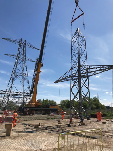 National Grid Starts Pylon Work on  Electricity Connection from Europe to UK