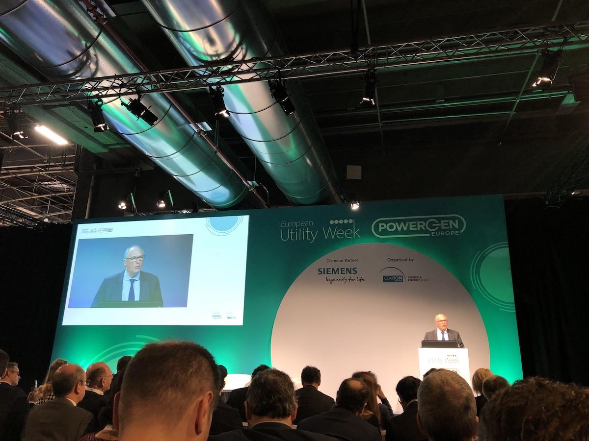 Enedis CEO Philippe Monloubou speaks at European Utility Week / POWERGEN Europe.