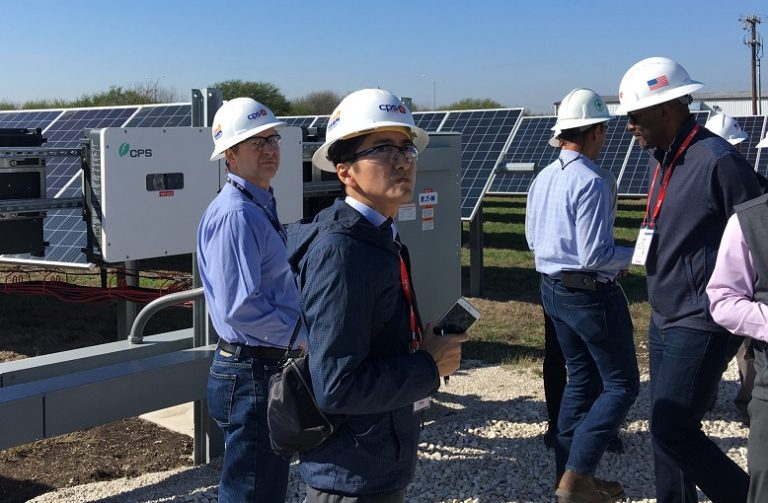 DTECH tech tour: CPS Energy solar and energy storage research site