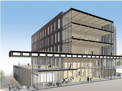 The zero-energy Catalyst building sets a new vision for grid-optimal design. Credit: McKinstry
