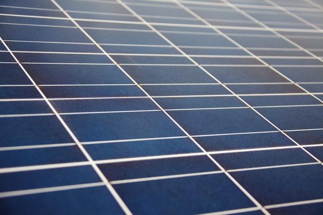 close-up solar panel