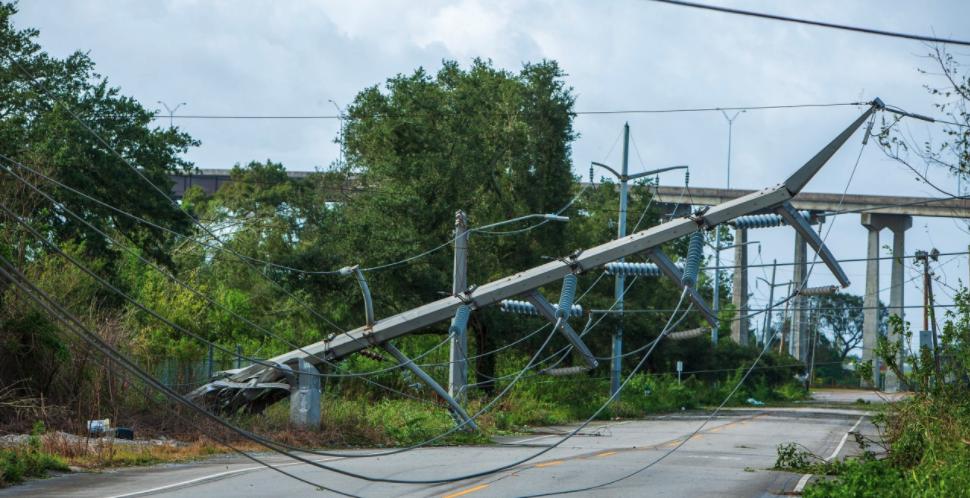 transmission line fallen