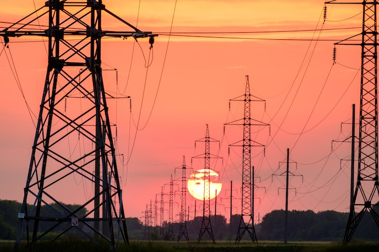 sunset on electric grid
