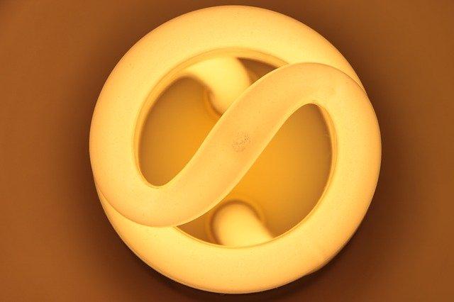 top of lightbulb
