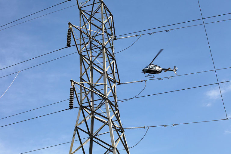 Penn Power using infrared and ultraviolet technology for inspections of transmission lines